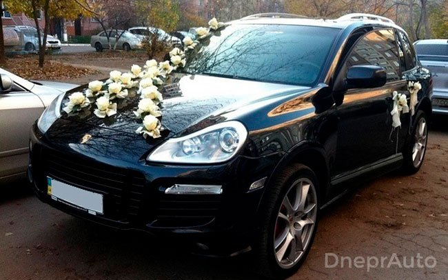 Аренда Porsche Cayenne на свадьбу Днепр