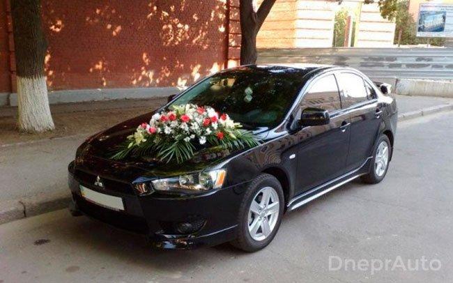 Аренда Mitsubishi Lancer X на свадьбу Днепр