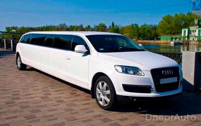 Аренда Лимузин Audi Q7 на свадьбу Дніпро