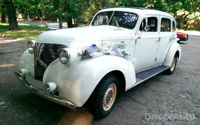 Аренда Chevrolet Master Deluxe 1939 года на свадьбу Дніпро