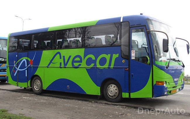 Аренда Автобус MAN 11.230 на свадьбу Днепр