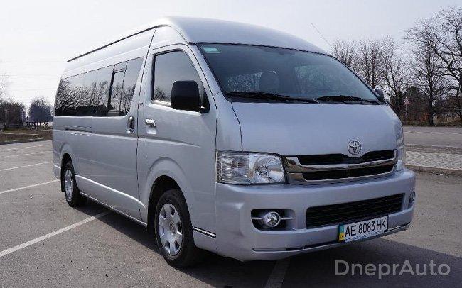 Аренда Микроавтобус Toyota Hiace на свадьбу Днепр