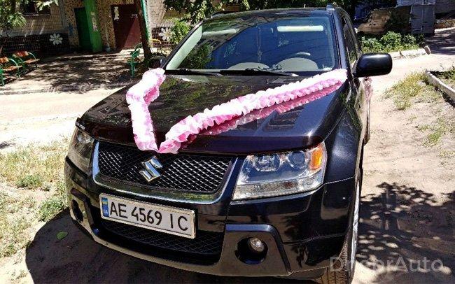 Аренда Suzuki Grand Vitara на свадьбу Дніпро